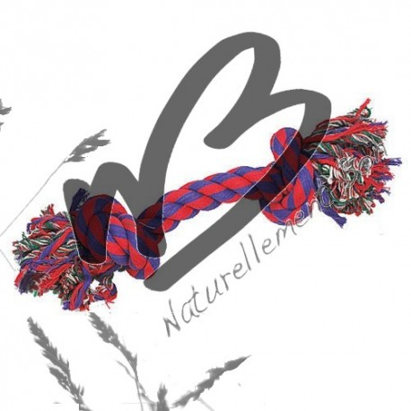 Jouet pour chien en corde 2 noeuds en coton multicolore