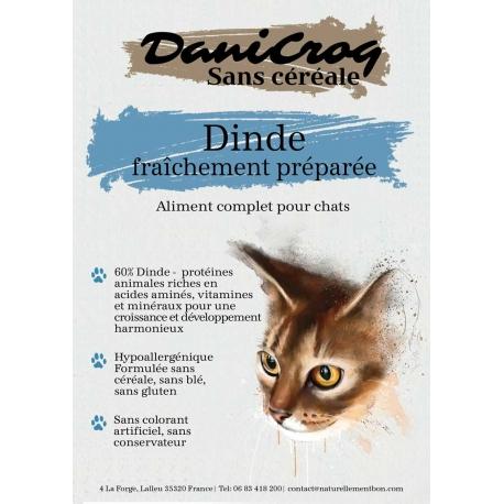 DaniCroc SC composition croquettes pour chat à la dinde sans céréale - Cuisson basse température