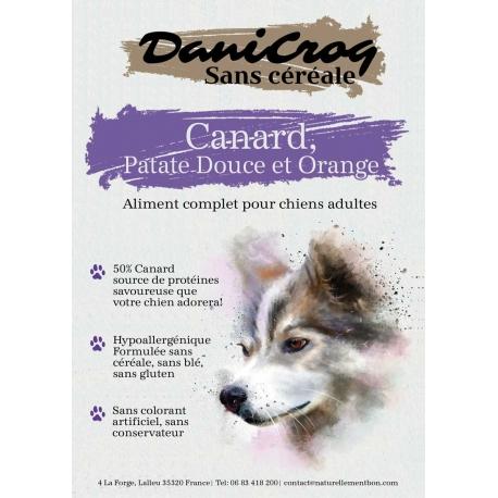 DaniCroc SC croquettes pour chien au canard sans céréale - Cuisson basse température