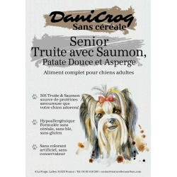 DaniCroc SC composition croquettes pour chien senior & light à la truite & saumon sans céréale - Cuisson basse température