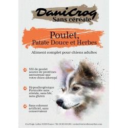 DaniCroc SC croquettes pour chien au poulet sans céréale - Cuisson basse température