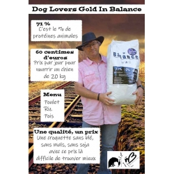 "Dog Lovers Gold ""In Balance"" 13 kg - poulet, riz, pois"